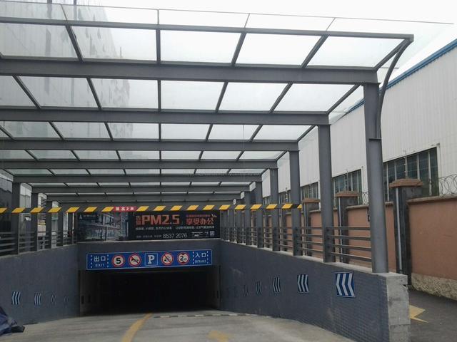 钢结构入库雨棚 - 成都亿福钢结构工程有限公司